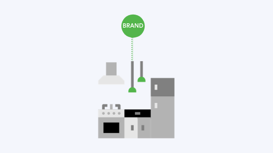 Traditional dark kitchen business model