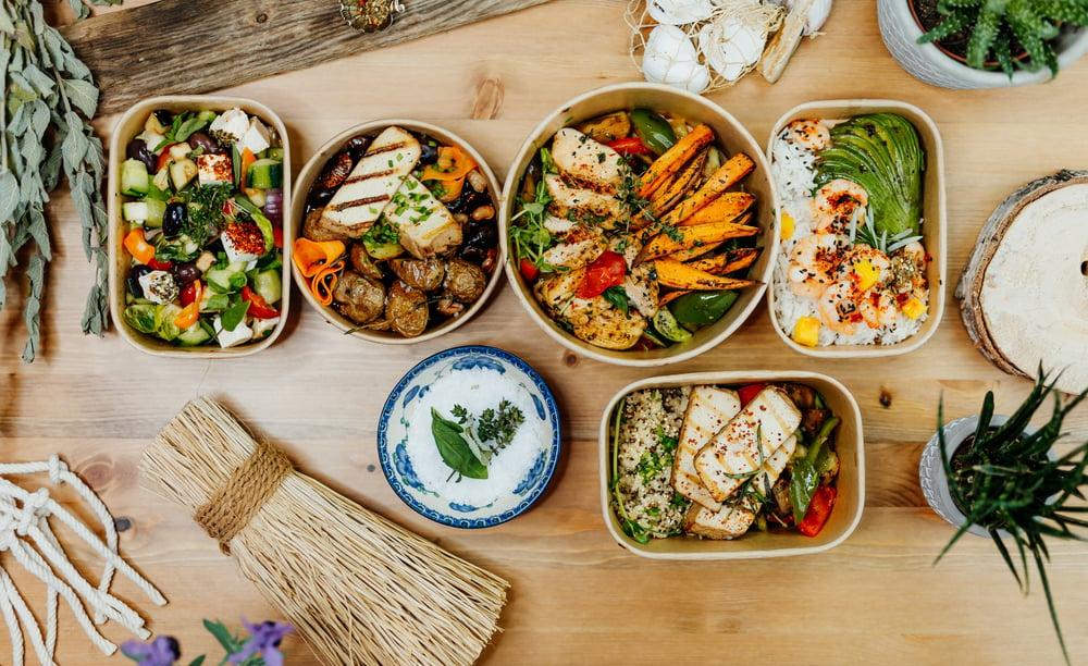 Healthy food buffet