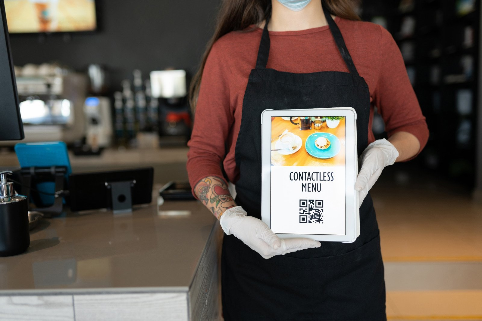 Contactless menu with QR code