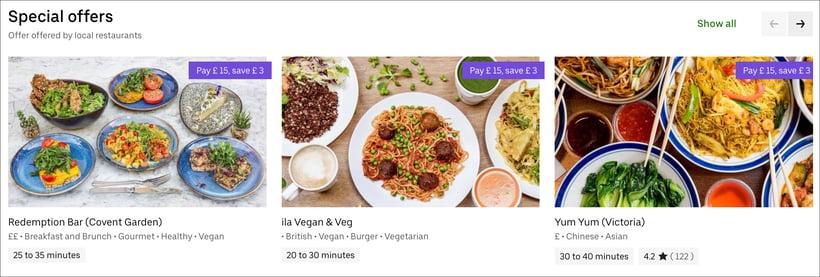 Special offers screenshot